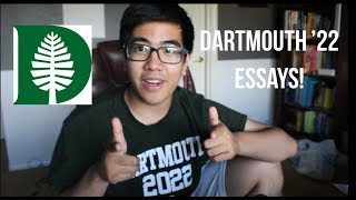 READING MY ACCEPTED DARTMOUTH COLLEGE ESSAYS || IVY LEAGUE TIPS