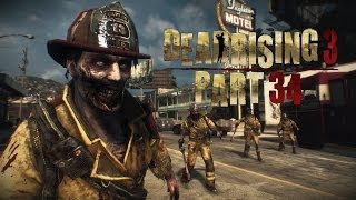 Let's Play Dead Rising 3 Part 34 - GROSS BEE INFESTED ZOMBIE & Firework Shooting Combo Vehicle