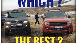 VW AMAROK vs Mitsubishi L200   OFF ROAD @TURKEY
