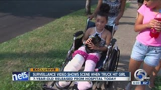 Cleveland girl who got hit by a car on West 58th St home from the hospital