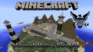 Minecraft Amazing Military Base Map (Download)