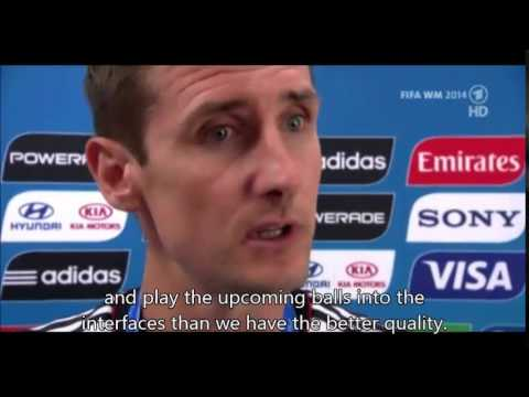 Miroslav Klose after winning World Cup 2014 in Brazil (English Sub)