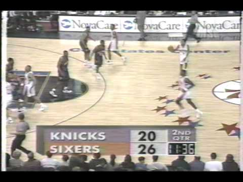 NY Knicks vs Philadelphia 76ers  December 20, 1996 Reg season Part 3 of 13