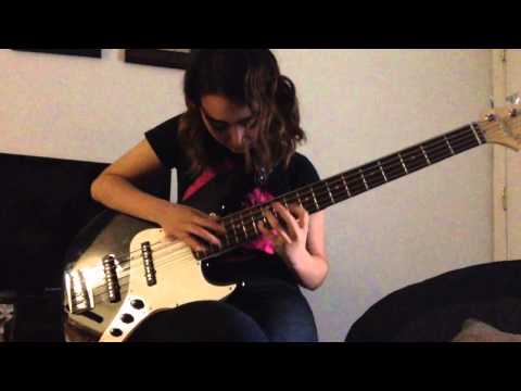 12 year old Chantal plays Primus- Jerry was a racecar driver (bass cover)