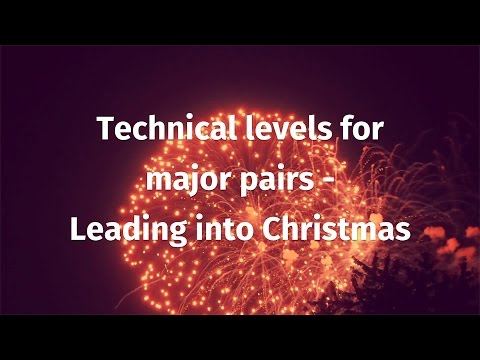 Technical levels for major pairs - leading into Christmas