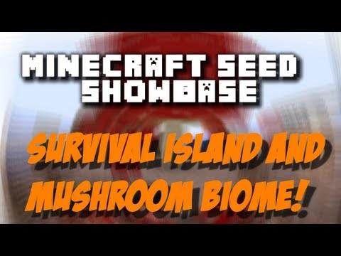 Minecraft 1.5.1 Seed Showcase Ep.6 - Survival Island and Mushroom Biome! V2