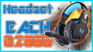 Audifonos Pro Gamer | Kotion EACH G2000 | Unboxing, Review y Prueba de Microfono