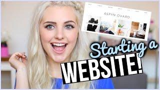 STARTING A WEBSITE?! #AskAspyn | Aspyn Ovard