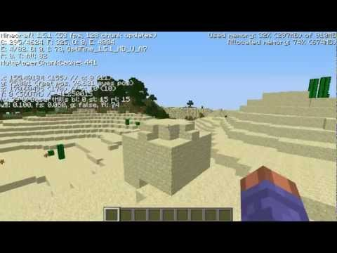 Amazing Submerged Desert temple spawn, diamonds, mountains Minecraft 1.5.2 seed