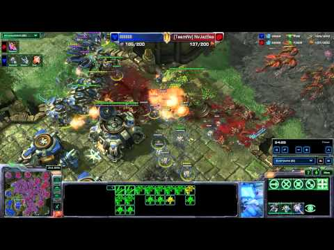 HD Starcraft 2 HTOMario JazBas TvZ Heart of the Swarm