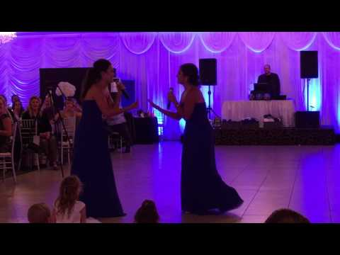 Sister song at wedding