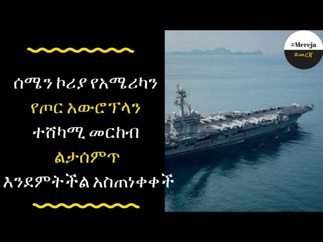 ETHIOPIA -North Korea issues warning on US aircraft carrier