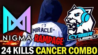 MIRACLE RAMPAGE with Cancer Pub Combo — NIGMA vs CL ESL One LA Online Dota 2