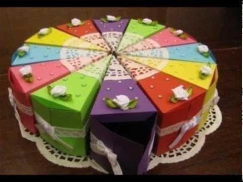 Торт своими руками из бумаги