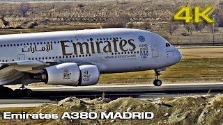 Emirates Airbus A380 MADRID 2016 [4K]