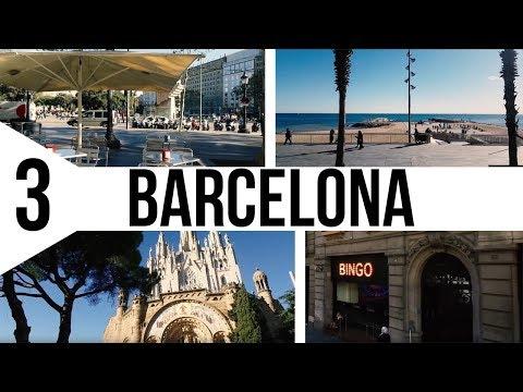 Испания . Паэлья и достопримечательности Барселоны. Тибидабо , Парк Гуэль , Саграда-Фамилия
