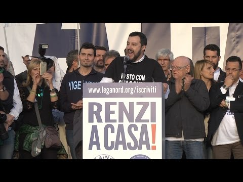 #renziacasa - intervento di Matteo Salvini