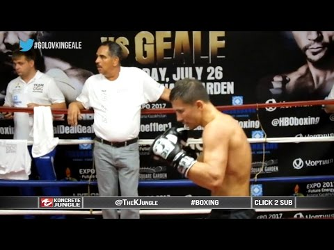 Gennady Golovkin vs Daniel Geale | GGG shadowboxing at media workout | TrueHD Image 1