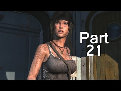 Tomb Raider Definitive Edition Walkthrough Part 21 Fighting Strong Armored Dude! (Xbox One/PS4)