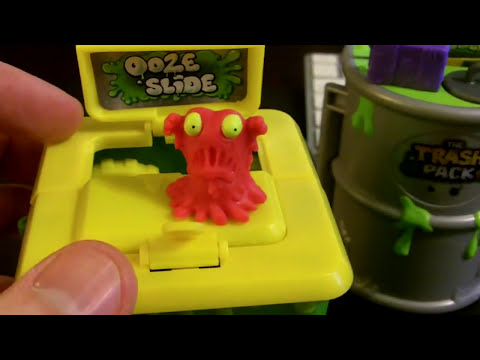 The Trash Pack Ooze Wheelie Bin Play Set Review and Unboxing Series 2 Trashies