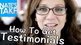 Testimonial Template - How to Get Testimonials
