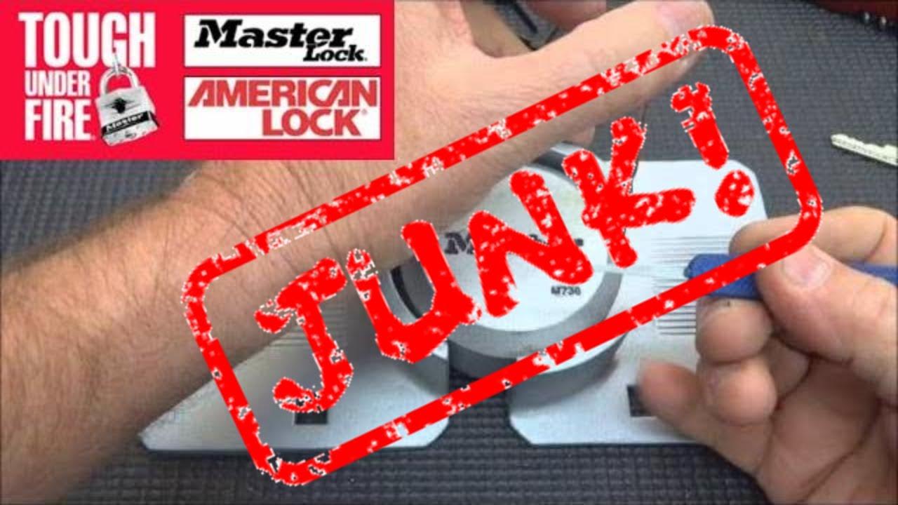 313 Master M736 Puck Lock Junk Youtube