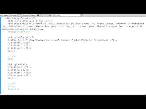 HTML 5 Basics:  Linking
