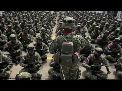 Indonesian Military Linud 328 Kostrad soldier on Gangnam style
