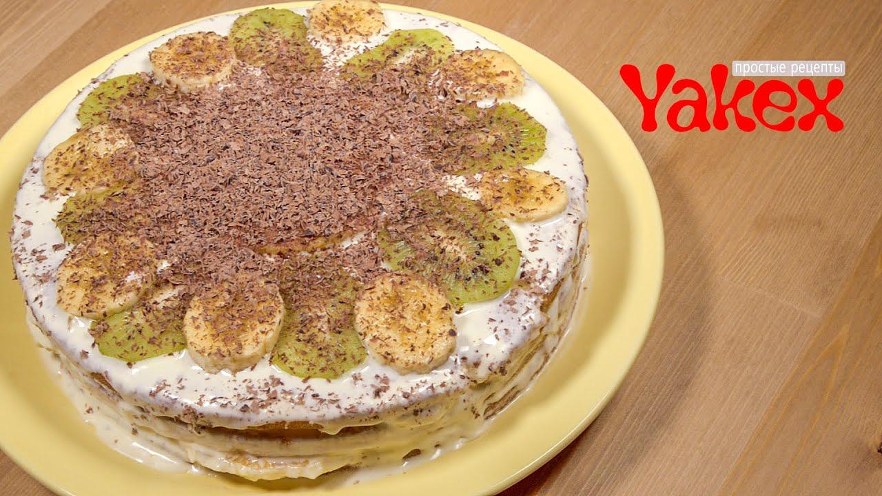 Рецепты тортов из бисквитных коржей в домашних условиях