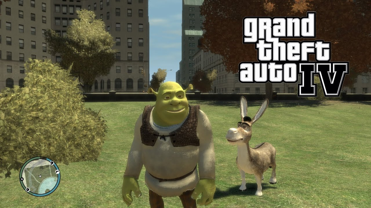 Gta Tv Show >> GTA 4 - Shrek & Donkey Mod - YouTube