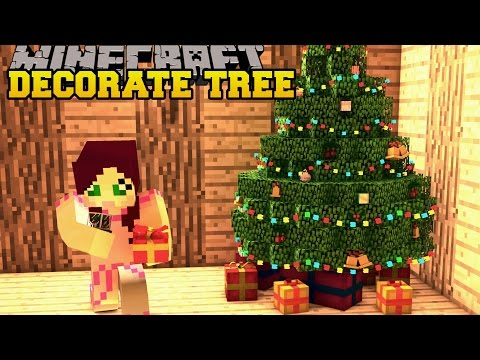 Minecraft: CHRISTMAS TREE DECORATION CHALLENGE! (TOY TRAINS, ORNAMENTS, & MORE) Mod Showcase