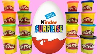 Play Doh & Surprise eggs stop motion animation Peppa pig Spongebob Pocoyo