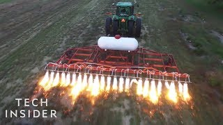 How These Flame-Throwing Tractors Kill Weeds