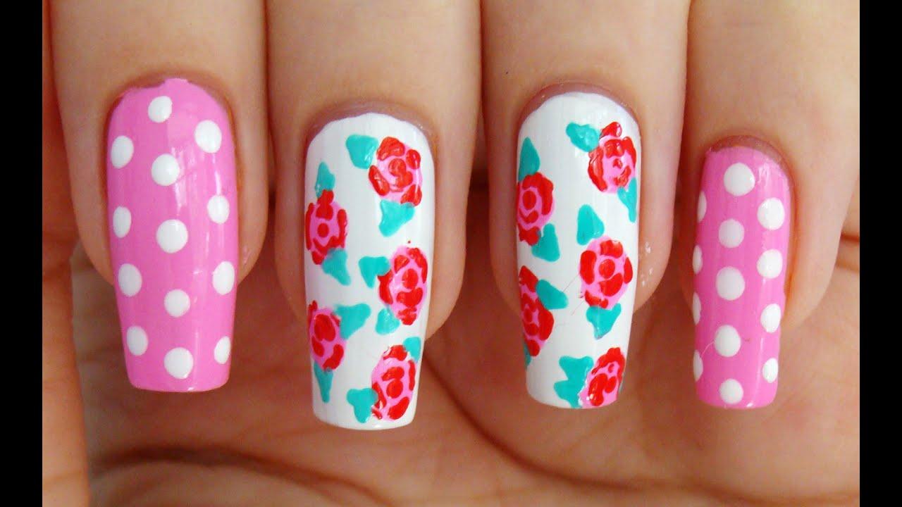 Дизайны ногтей с розами