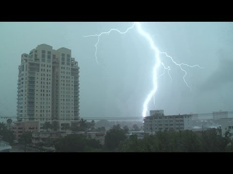 Severe Thunderstorms Intense Lightning- Ft. Lauderdale, FL 8.3.12