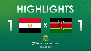HIGHLIGHTS | #TotalAFCONQ2021 | Round 1 - Group G: Egypt 1-1 Kenya
