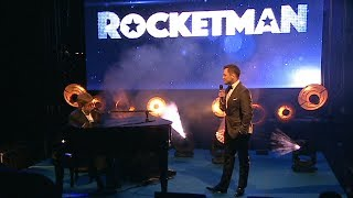 Elton John & Taron Egerton Surprise Performance - Rocketman Cannes Gala Party