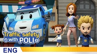 Trafficsafety with Poli | #01.Jaywalking is dangerous!