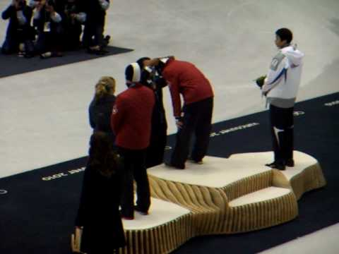 Charles Hamelin Olympic Gold Medal Ceremony