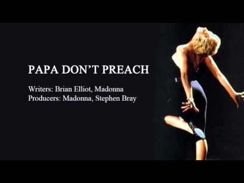 Papa Don't Preach - Instrumental video