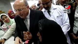 زيارة وزير الصحة لوحدة الأسرة بروافع القصير بسوهاج
