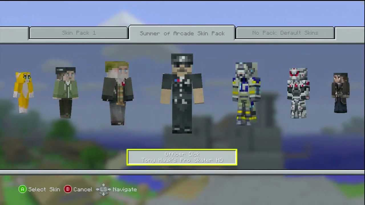 Minecraft Xbox 360 FREE NEW SKIN PACK Summer Of