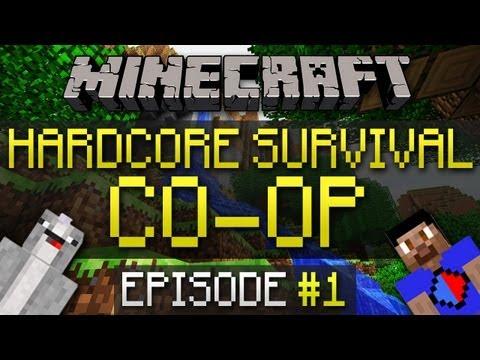 Minecraft Hardcore Survival Co Op #1 with Vikkstar123