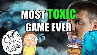 Dota 2 Arteezy  Most Toxic Game Ever  Flamed By Team Amp Opponent