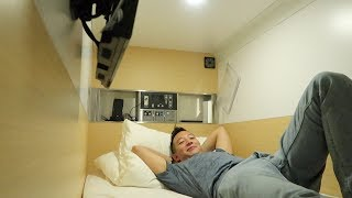 I stayed at a Capsule Hotel in Osaka Japan!!!