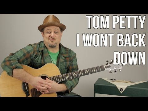 Tom Petty - I Won't Back Down - Guitar Lesson -  How To Play On Acoustic Guitar
