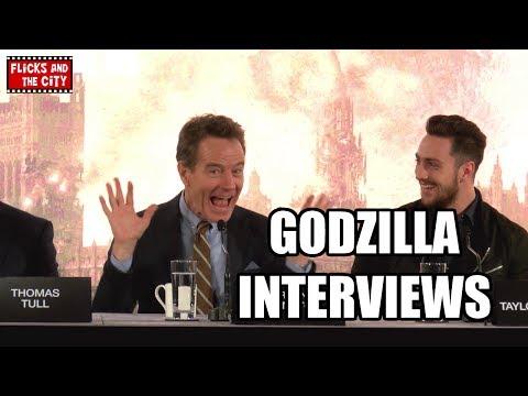 Godzilla Interviews - Bryan Cranston, Elizabeth Olsen, Aaron Taylor-Johnson, Gareth Edwards