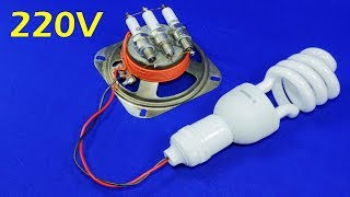 Free Electricity Generator 220V CFL Energy Light Bulb NEW AC Electric Generator 2019 New Experiment