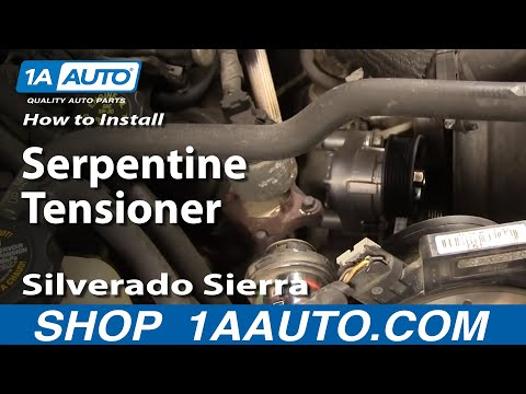 How To Install Replace Serpentine Tensioner Silverado Sierra Tahoe Yukon 4.8L 5.