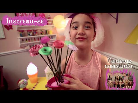 Como fazer rosas de papel e palitinhos com a Nina ❤ Mundo da Menina